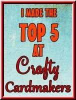 I won at crafty cardmakers 21/01/2013