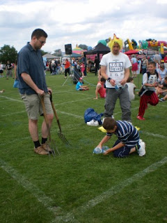 Worm Charming Competition at St Mary's Village Carnival in Edlesborough