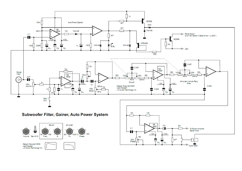 CIRCUIT DIAGRAM: Subwoofer filter Circuit