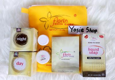 Cream Perawatan Pemutih Wajah Florin Skin Care Paket Acne Gel Original
