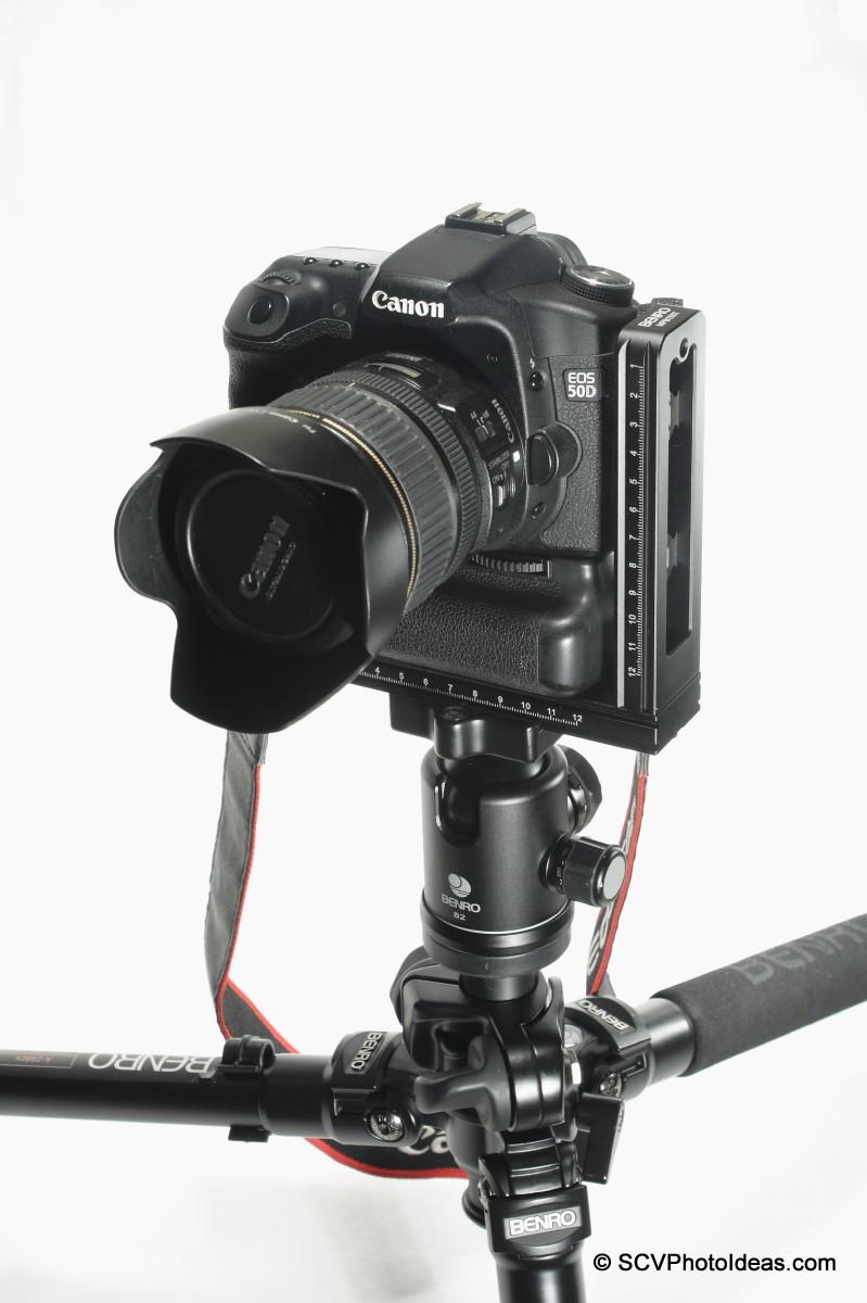 Benro MPB150T on Canon EOS 50D+BG-E2N landscape