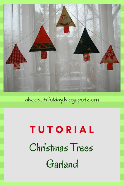 Christmas Trees Garland Tutorial - abeeautifulday.blogspot.com