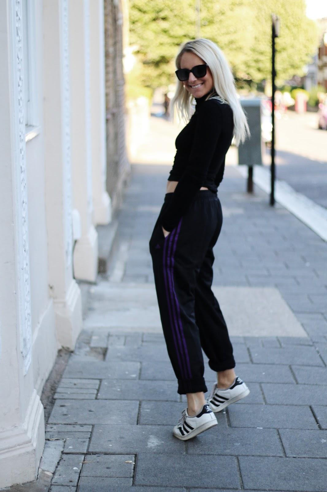 Adidas tracksuit street style