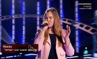 Rocío canta When We Were Young de Adele la voz kids
