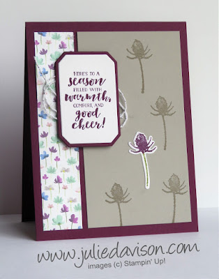 Stampin' Up! First Frost ~ Frosted Floral Card ~ 2018 Holiday Catalog ~ www.juliedavison.com