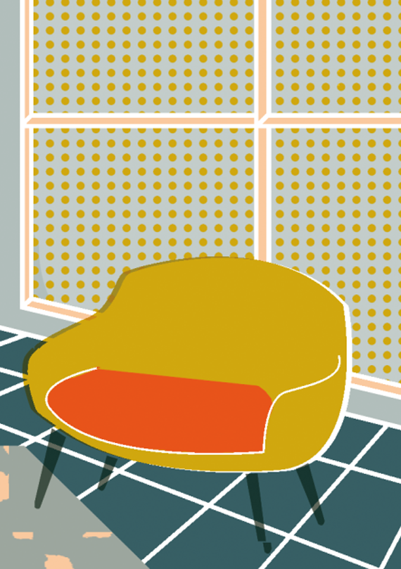 freelance illustration elena boils, chairs collection