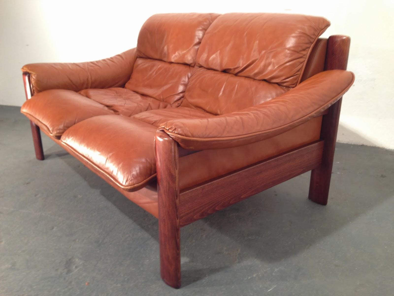 Vintage Danish Leather Sofa