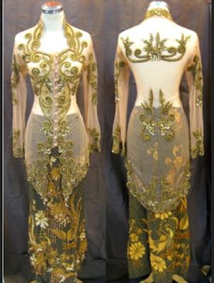 gaun kebaya modern untuk pesta