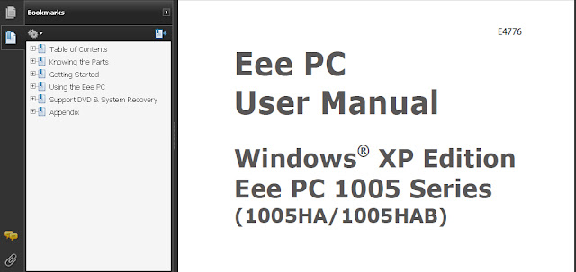 ASUS EEE PC 1005HAB MANUAL