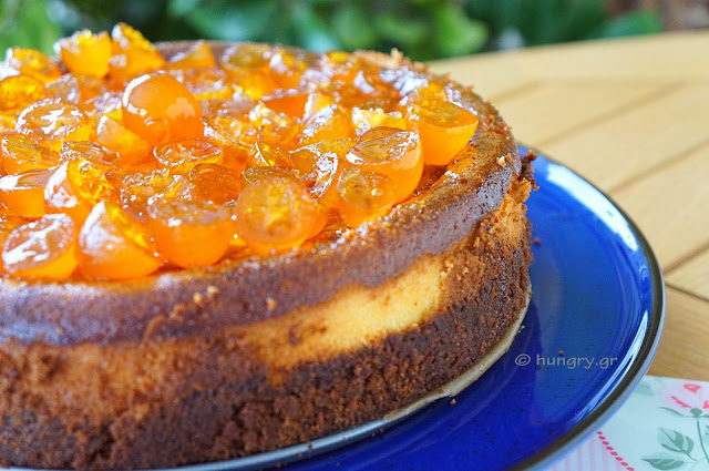 Cheesecake with Candied Kumquats
