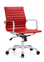 Red Leather Office Chair at OfficeFurnitureDeals.com