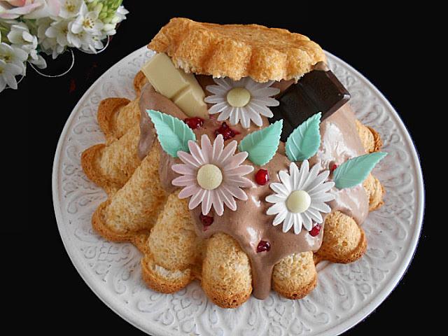 bolo branco de baunilha