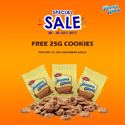 Famous Amos Malaysia Special Sale Free Cookies