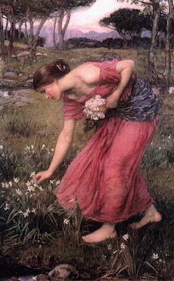 John Williams Waterhouse: Narcissus-1912