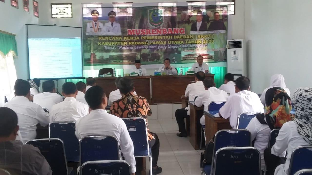 Hari Kedua Rapat Musrembang RKPD Paluta Tahun 2020 Sepi Peserta