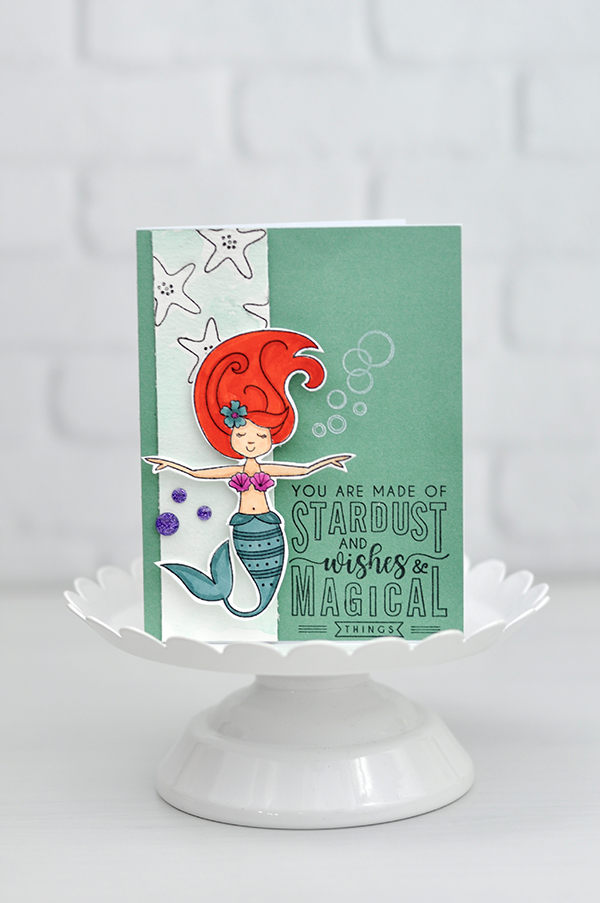 Close to My Heart: Mermaid Stamped Card