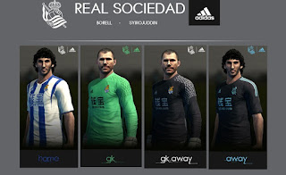 PES 2013 Real Sociedad Kit 2016-17 By BORELL KITS