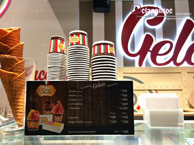 Casa Italia Philippines Gelato Price