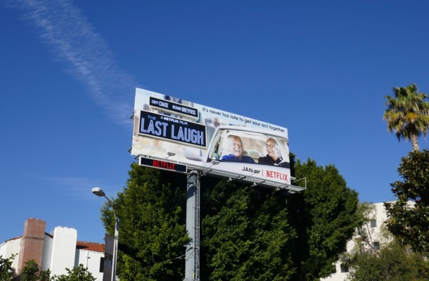 Last Laugh film billboard