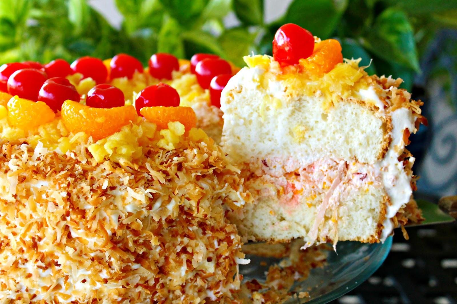Fruit Angle Food Cake
