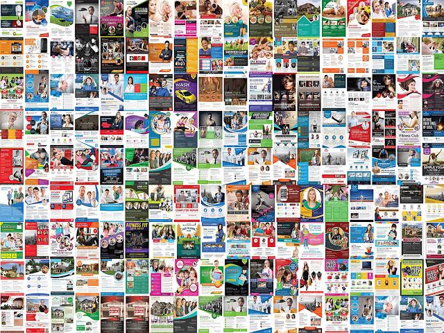 تجميع 150 تصميم فلاير psd مهمة لمكاتب الدعاية والاعلان