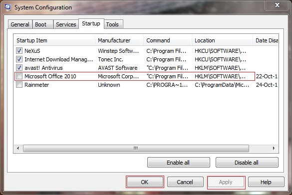 Fix your PC: There is not enough memory or disk space to run MS
