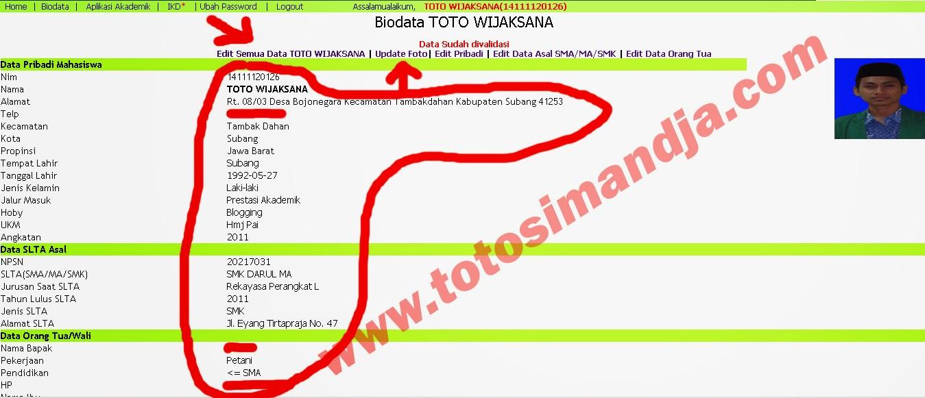 Informasi Update Biodata Online Mahasiswa IAIN Syekh Nurjati Cirebon