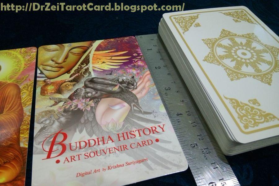 ขนาดไพ่พุทธประวัติ ไพ่พยากรณ์ Buddha history ขนาดโปสการ์ด ไพ่พระพุทธเจ้า
