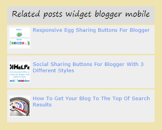 related posts widget for blogger mobile 101helper