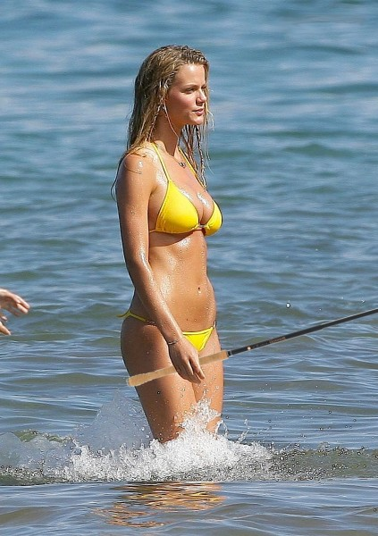 Brooklyn Decker Bikini Tenkara Trout Fishing