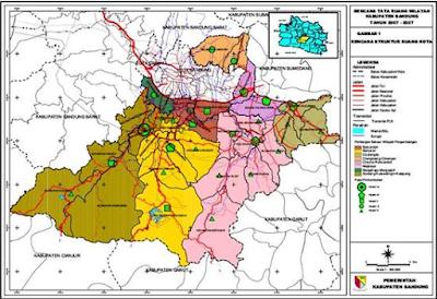 Peta Kabupaten Bandung beserta kota-kotanya