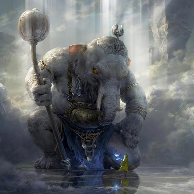 White Elephant in Heaven Landscape Wallpaper Engine