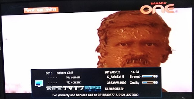 Sahara One Hindi GEC channel fta from Asiasat 7 Satellite