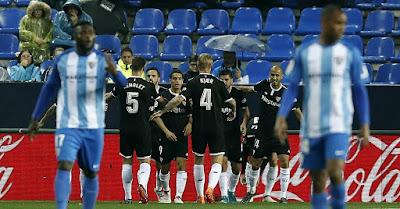 Crónica Málaga CF 0 - Sevilla FC 1