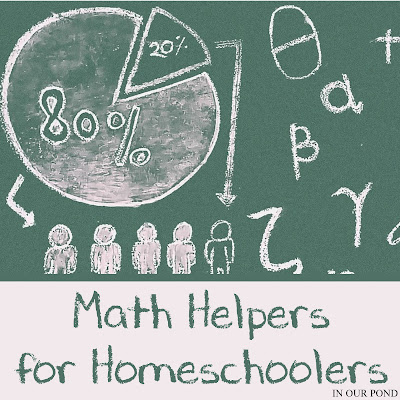 Math Helpers for Homeschoolers with Free Printables from In Our Pond