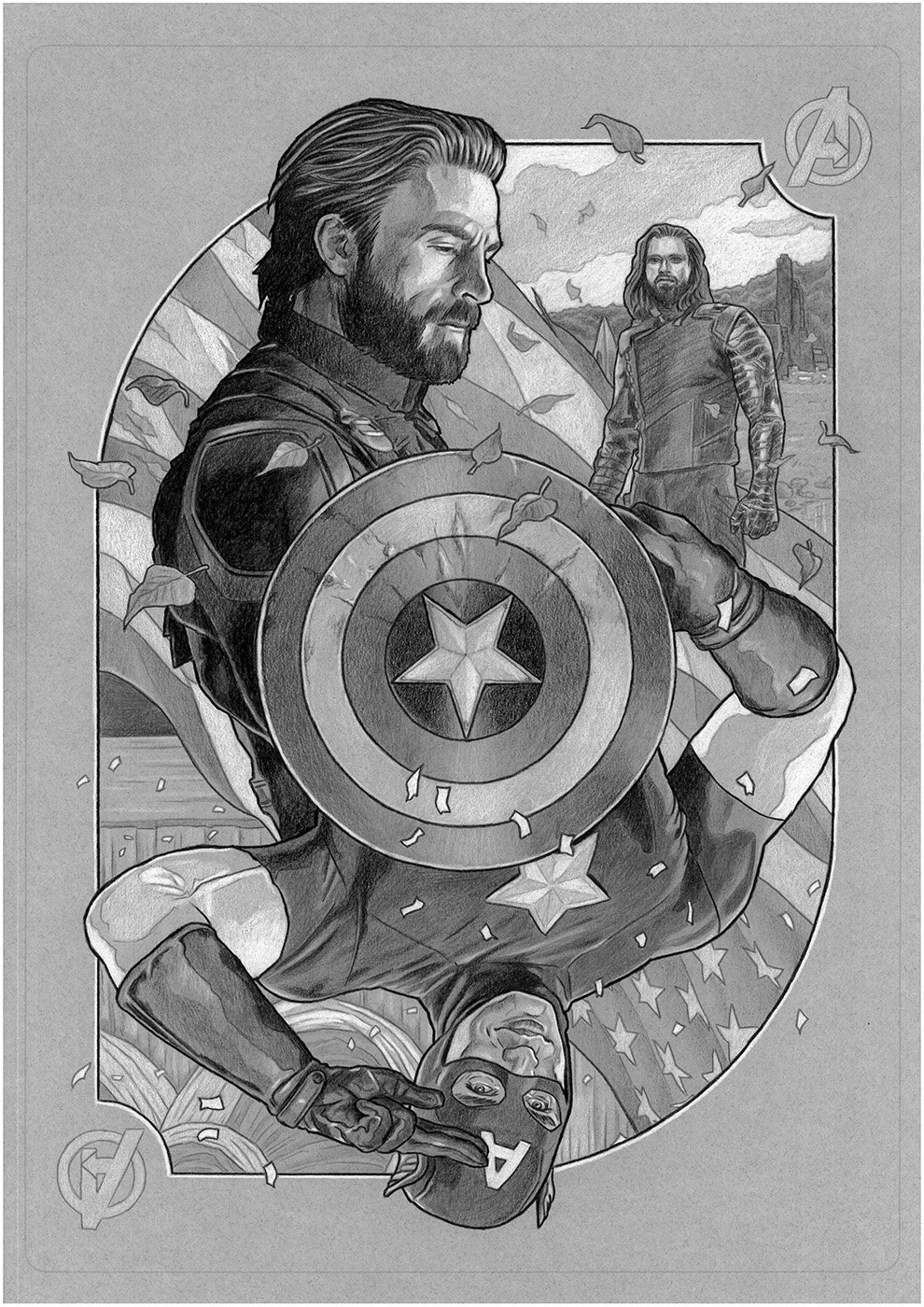 The Geeky Nerfherder: #CoolArt: 'Avengers Picture Card