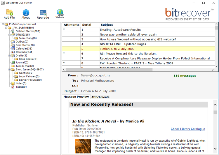 BitRecover OST File Viewer