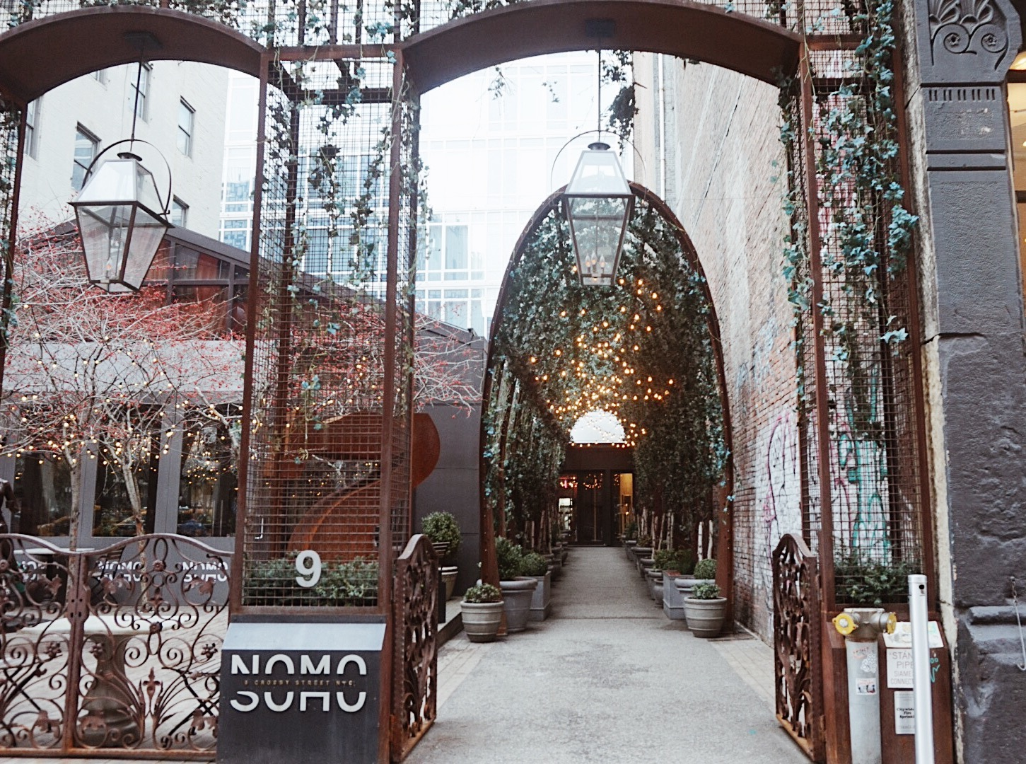 the front arch of the Nomo Soho in NYC