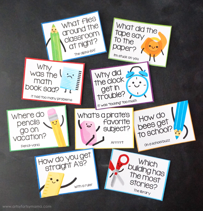 Free Printable Back to School Lunchbox Jokes are sure to make your kids smile!