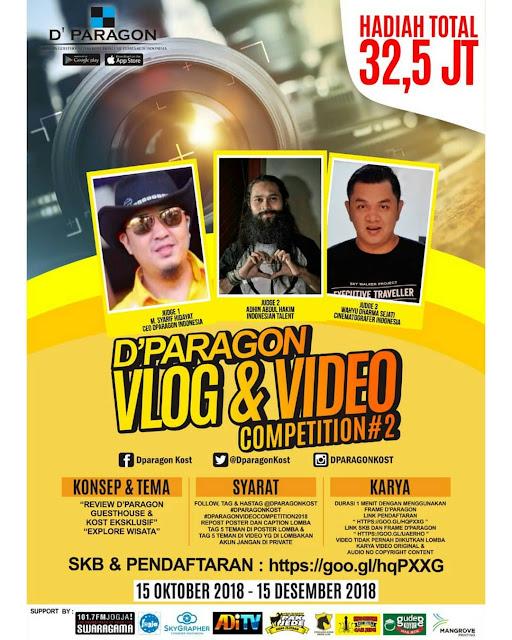 Lomba D'Paragon Vlog & Video Competition#2 2018 Umum Gratis