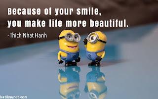 quotes bahasa inggris about smile dan artinya