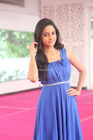 Divya Nandini stunning Beauty in blue Dress at Trendz Exhibition Launch ~  Celebrities Galleries 082.JPG