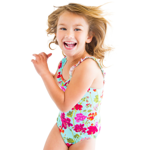 Stella Cove | One-Piece Floral Swimsuit | Chichi Mary Kid's Boutique
