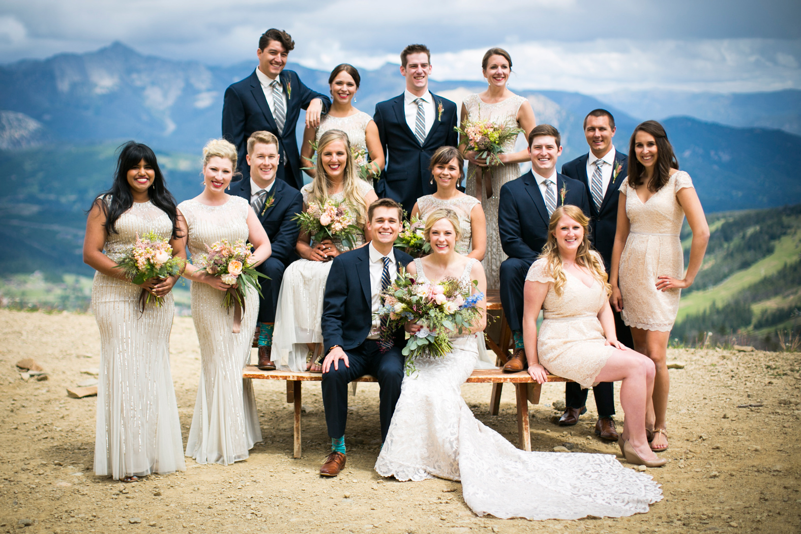 Montana Wedding Party / Eye in the Sky Photography / Big Sky Resort / Flowers: Katalin Green