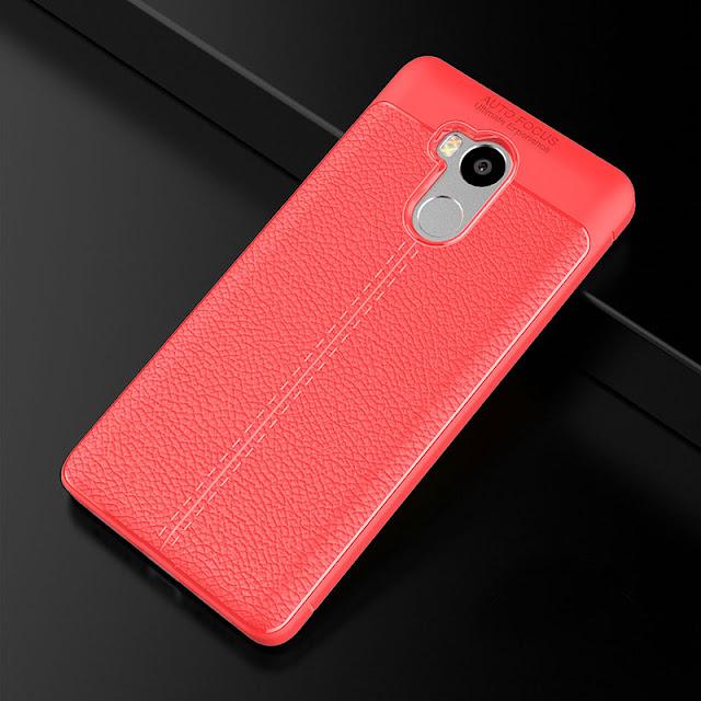 Ốp da Xiaomi Redmi 4 silicone phủ da