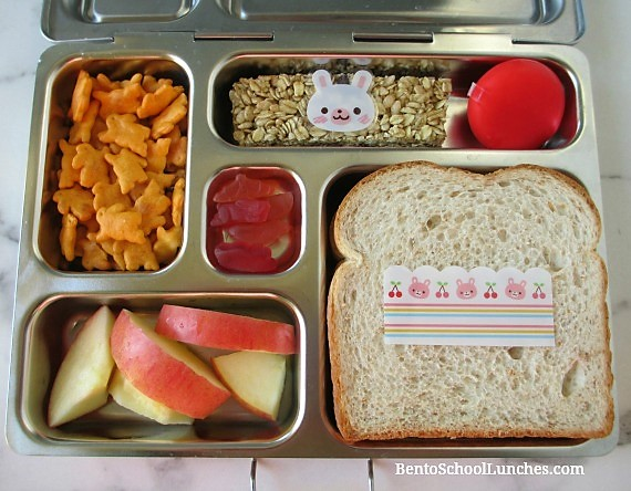 Simple bunny themed lunch in a Planetbox