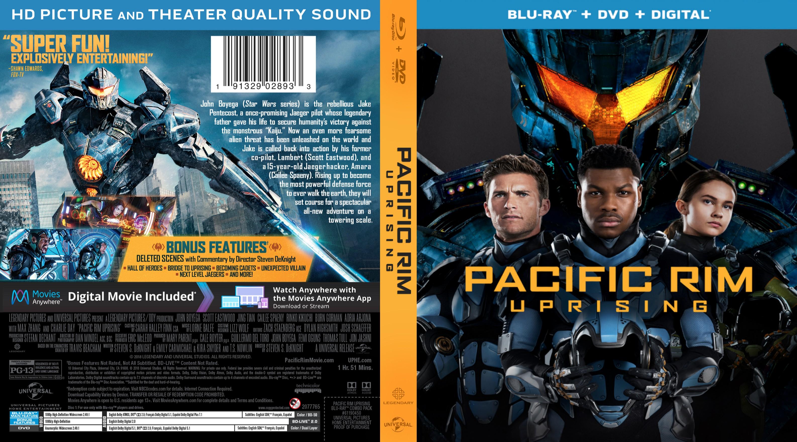 Pacific Rim Uprising (scan) Bluray Cover | Cover Addict ... Pacific Rim Dvd Cover