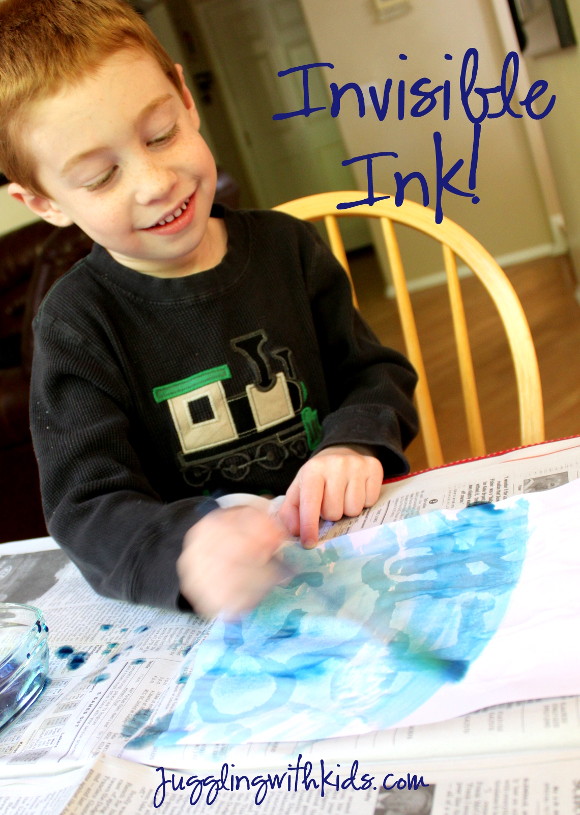 Invisible Ink Juggling With Kids