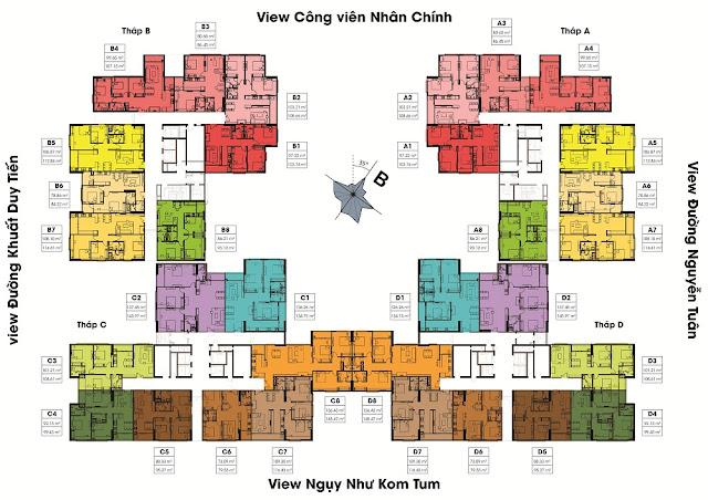 Mặt bằng thiết kế tổng thể dự án Việt Đức Complex