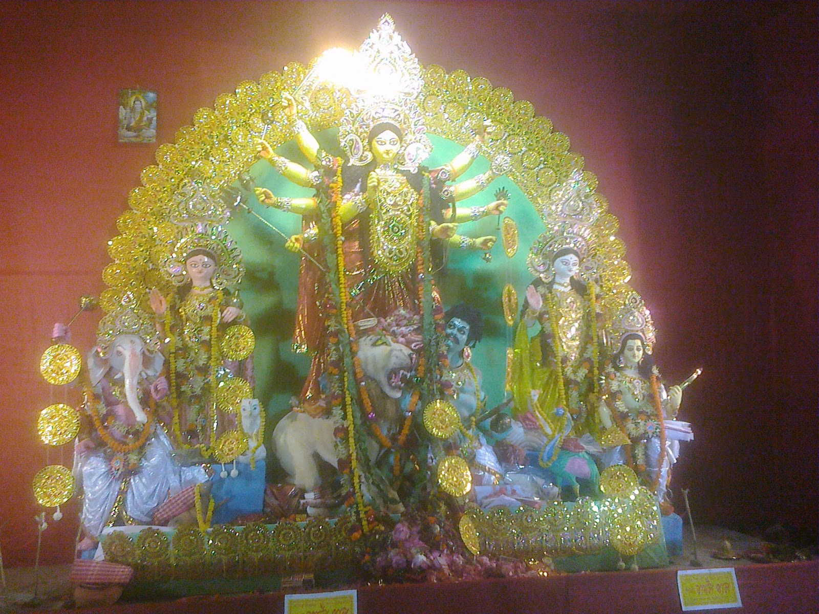 Durga puja mandap in howrah during pujo 2011